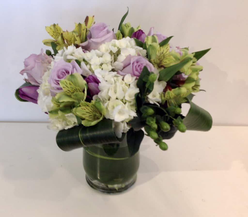 Hydrangea arrangement verdant floral studio